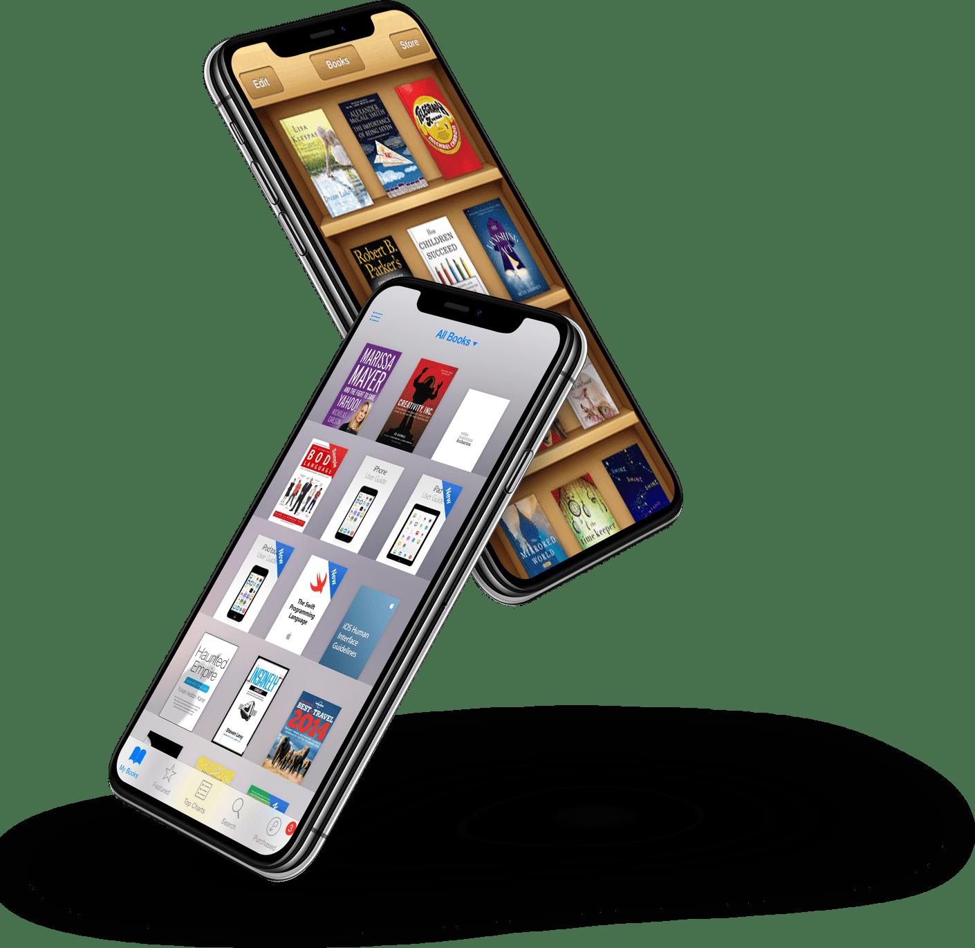 Zwei Designs einer App auf dem Smartphone