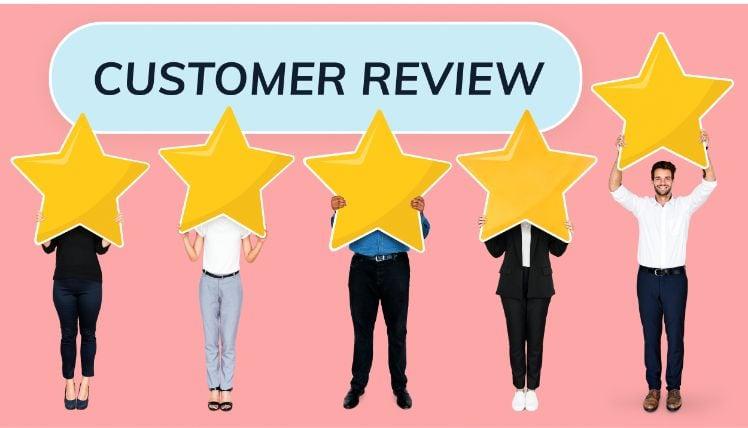 Customer review - fuenf leute haben stern am koerper