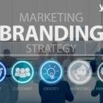 Marketing Branding Strategy abbildung mit unterpunkten