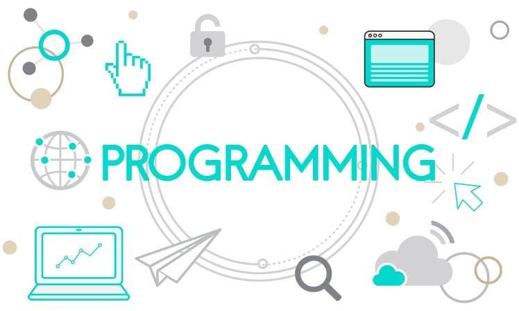 Darstellung verschiedener Symbole im Bezug auf Programmierung