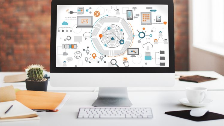 Darstellung Marketing Automation auf einem Computer