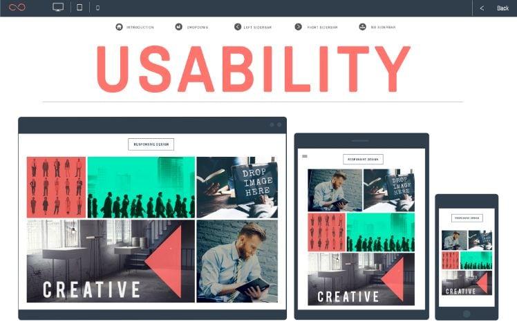 Benutzerfreundliches User Interface einer Website