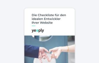 Ebook Checkliste idealer Entwickler für Website
