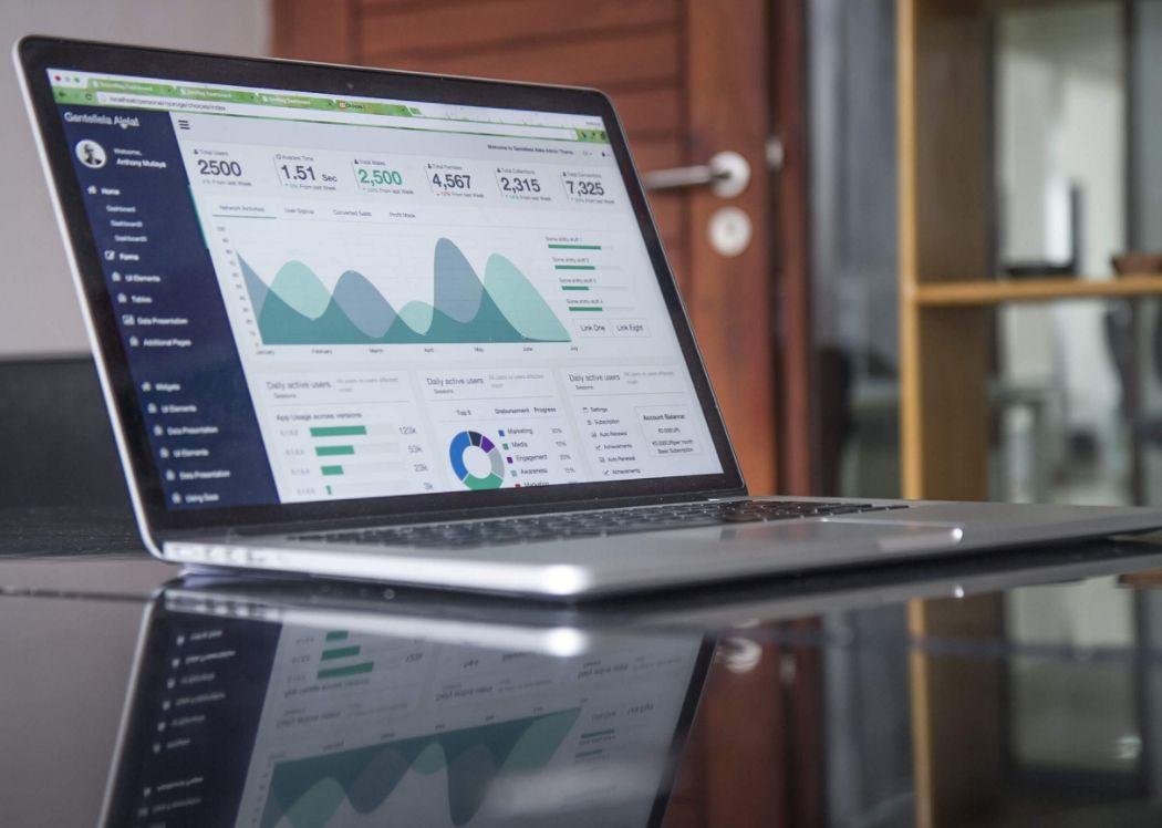 Analysen im Laptop