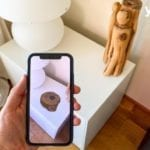 Iphone mit eine Augmented Reality App