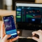 Blockchain auf handy und laptop