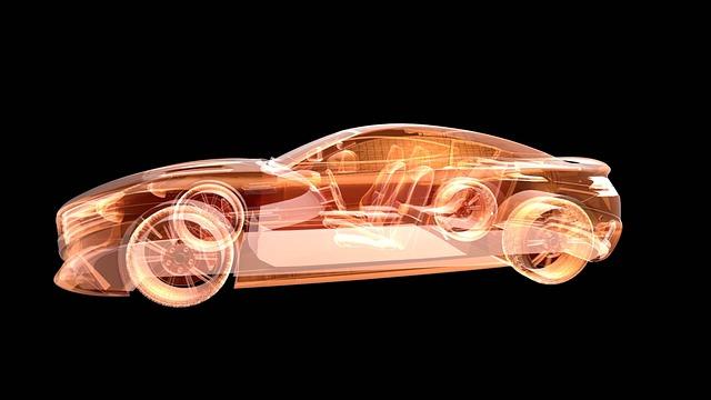Hologramm eines Autodesigns